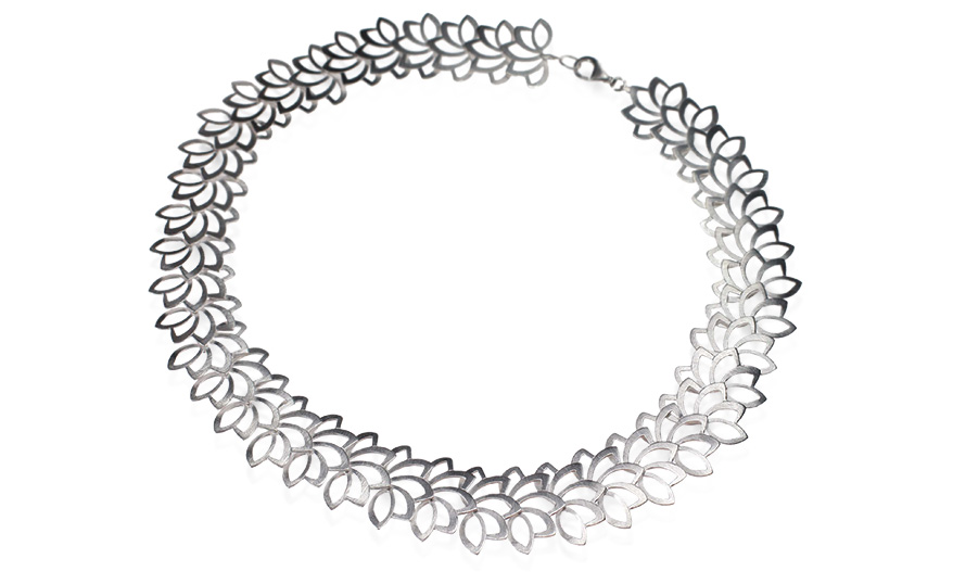 Kelim necklace in sterling silver