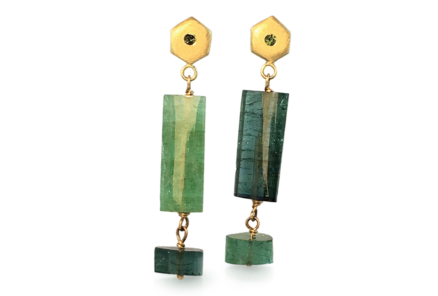 Tourmaline earrings from Judi Powers