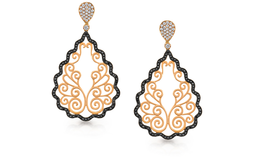 Rose gold earrings from Sylvie Collection