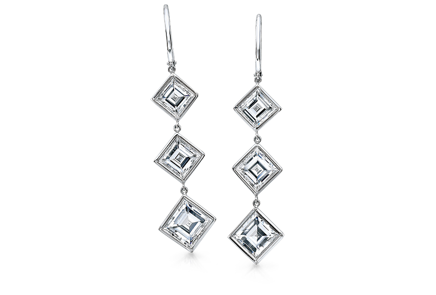 Carre diamond earrings from Rahaminov